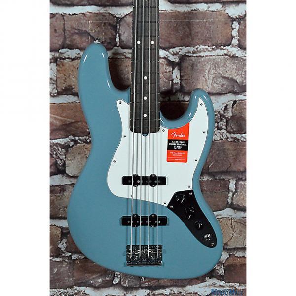 Custom New Fender American Professional Jazz Bass Sonic Grey RW #1 image