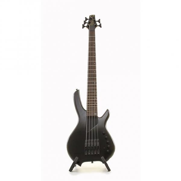 Custom Willcox Guitars Saber SL5 5 String Lightwave Electric Bass Guitar - Black #1 image