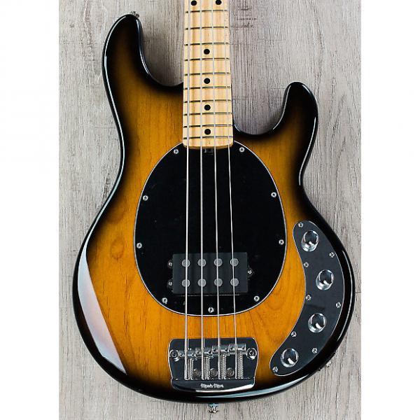 Custom Ernie Ball Music Man Premier Dealer StingRay 4 H Bass, Vintage Tobacco Sunburst, Matching Headstock #1 image