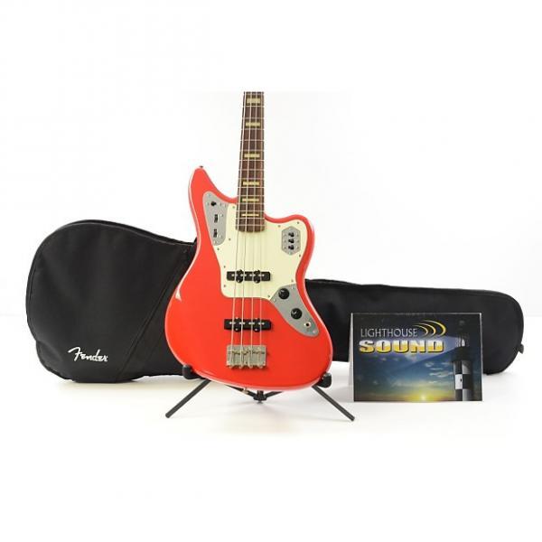 Custom 2007 Fender Jaguar Electric Bass Guitar - Hot Rod Red w/Fender Gig Bag- Active #1 image