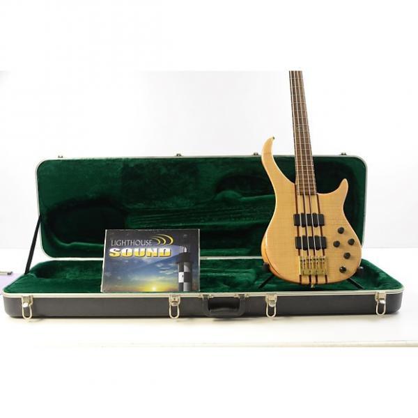 Custom Peavey Cirrus 4 String Electric Bass Guitar - Natural w/ OHSC #1 image