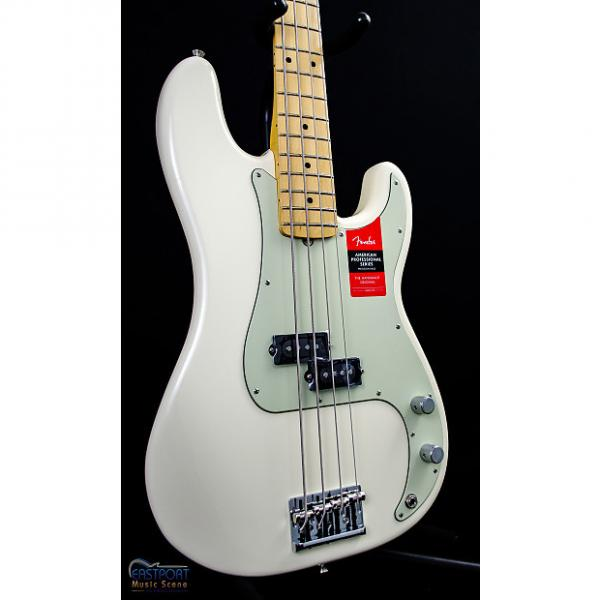 Custom Fender American Professional Precision Bass with Maple Neck in Olympic White #1 image