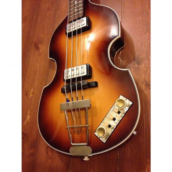 Custom hofner Violon Bass made in germany 500/1 vintage reissue 1963 2008 wood #1 image