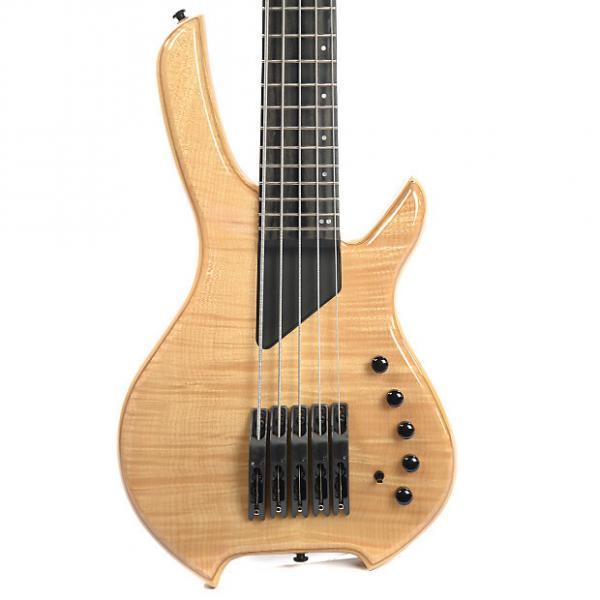 Custom Willcox Lightwave Saber Bass VL-5 String Fretted Bass Transparent Natural #1 image