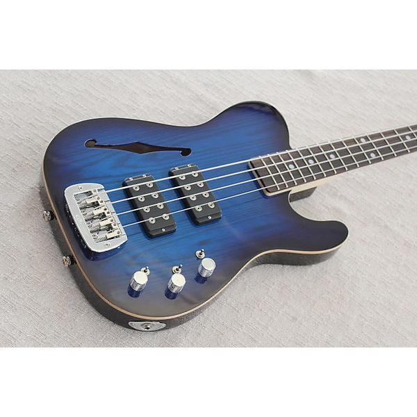 Custom G&L USA ASAT Bass Semi Hollow Blue Burst #1 image
