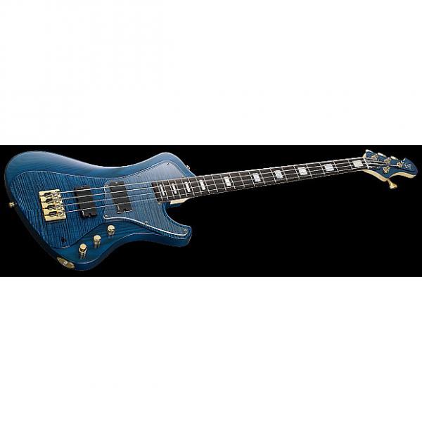 Custom ESP Stream CTM Electric Bass in Marine Blue #1 image