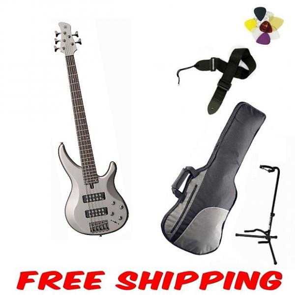 Custom Yamaha TRBX305 Pewter 5-String Bass #1 image