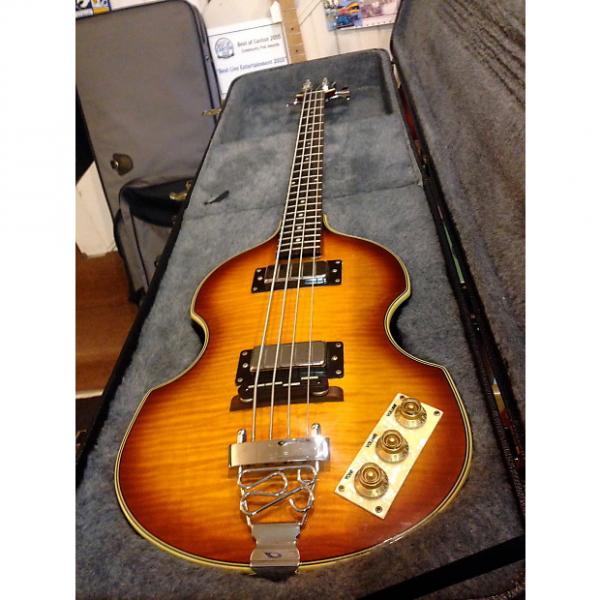 Custom Epiphone Viola Bass 2003 sunburst & HARD Case #1 image