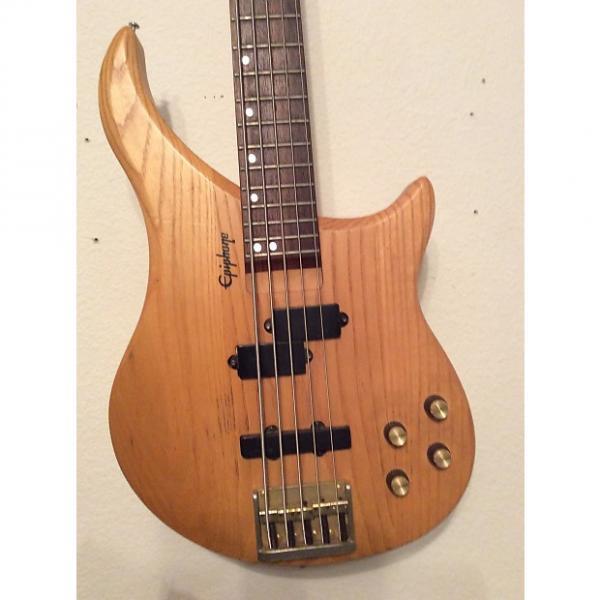 Custom Epiphone EBM-5 Custom NA 5-String Bass Guitar Natural Finish 1990s #1 image