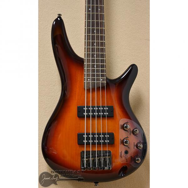Custom Ibanez SR375E 5 string bass in Aged Whisky Burst #1 image