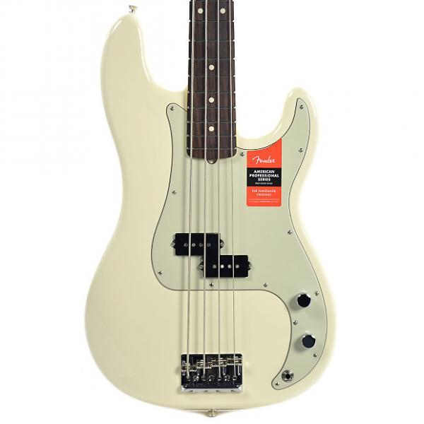 Custom Fender American Pro Precision Bass RW Olympic White #1 image