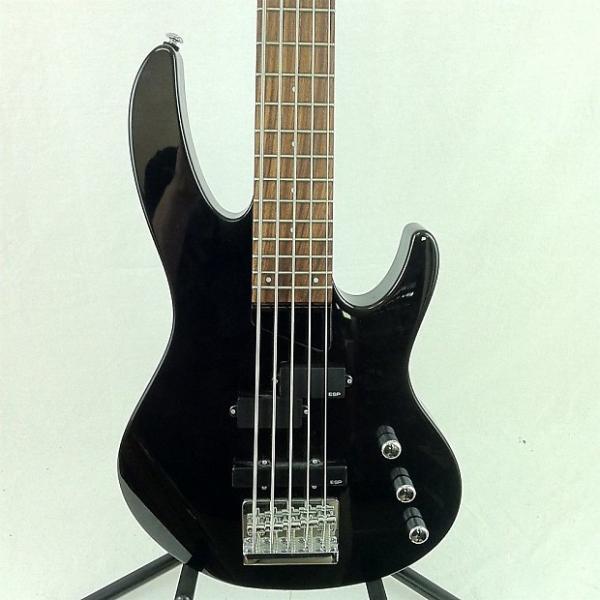 Custom Ltd B-55 Bass Guitar Black #1 image