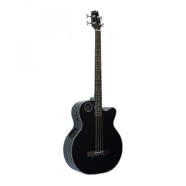 Custom Boulder Creek EBR1-B4 Black 4-String Acoustic Electric Bass #1 image
