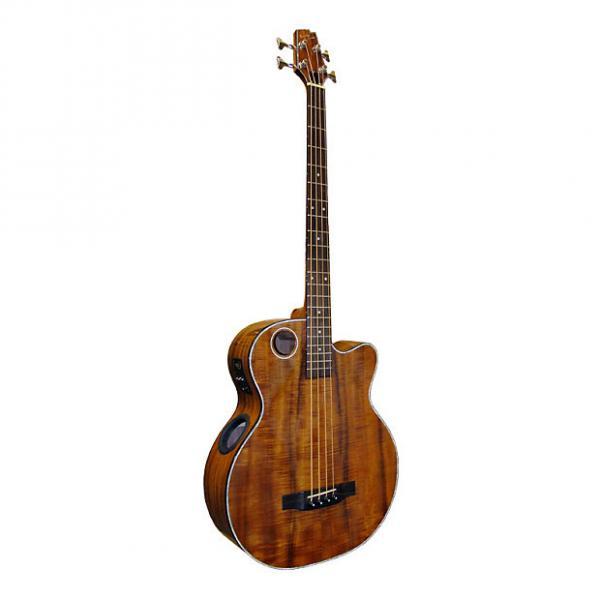 Custom Boulder Creek EBR6-N4 Natural Koa 4-String Bass #1 image