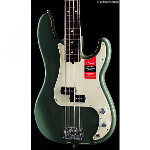 Custom Fender American Pro Professional Precision Bass Antique Olive Rosewood (033) #1 image