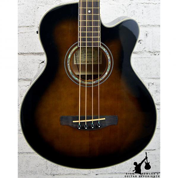 Custom Ibanez AEB10E Acoustic-Electric Bass Dark Violin Sunburst #1 image