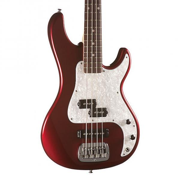 Custom G&L Tribute SB-2 Bass, Bordeaux Red Metallic, Rosewood #1 image