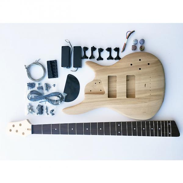 Custom DIY DIY Electric Bass Guitarit - 5 String Ash Bass #1 image