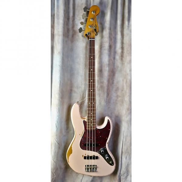 Custom Fender Signature Flea Jazz Bass 2016 Faded Shell Pink #1 image