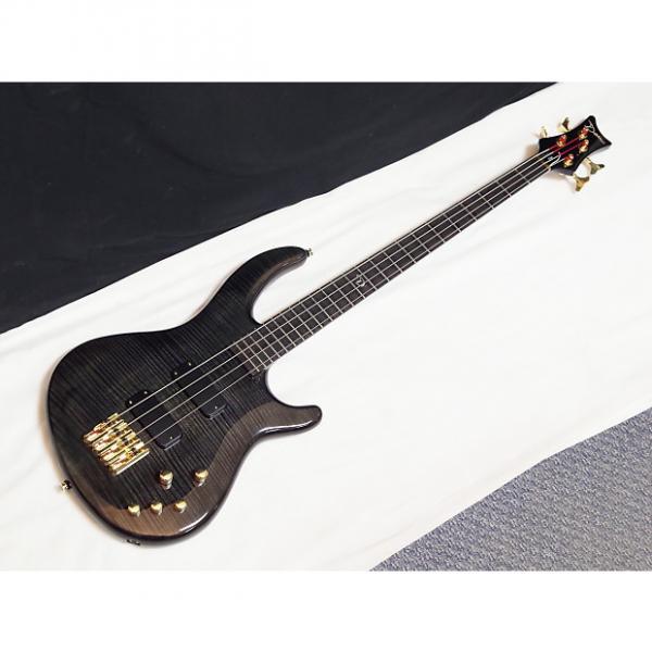 Custom DEAN Edge PRO 4-string BASS guitar NEW Trans Black - Active - Neck-through - B #1 image