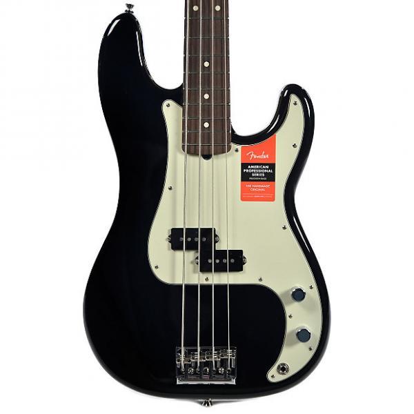 Custom Fender American Pro Precision Bass RW Black #1 image