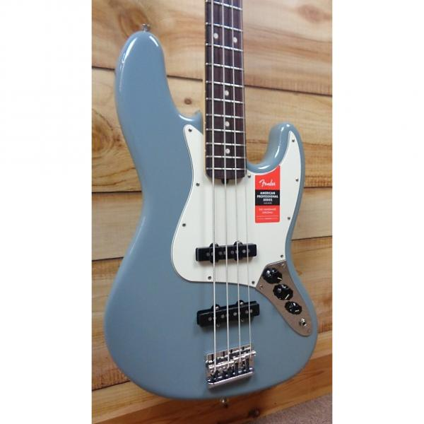 Custom New Fender® American Professional Jazz Bass® Rosewood Fingerboard Sonic Gray w/Case #1 image