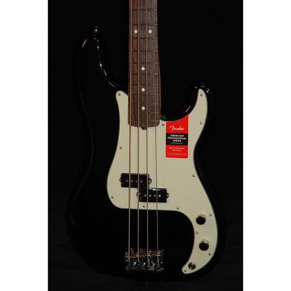 Custom Fender American Professional Precision Bass Black RW #1 image