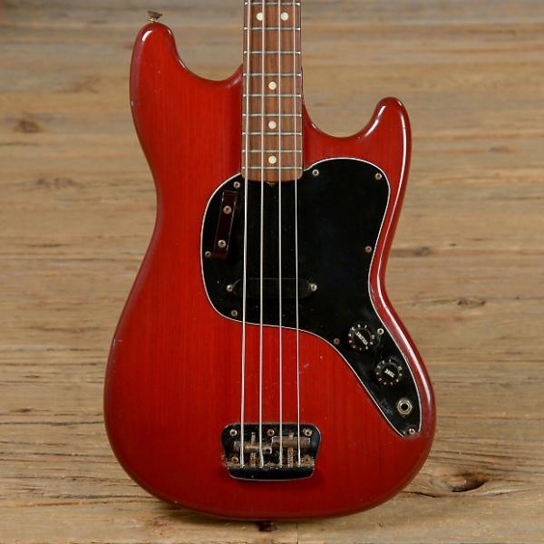 Custom Fender Musicmaster Bass Red 1981 (s241) #1 image
