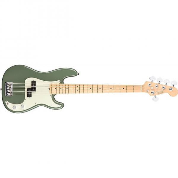 Custom Fender American Pro Precision Bass V - Maple Fingerboard - Antique Olive #1 image