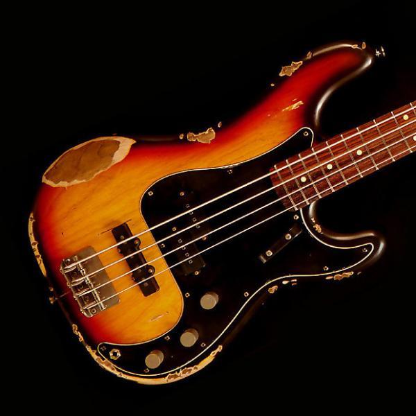 Custom Nash PB-63/PJ Bass Guitar - 3 Tone Burst - Nash PB-63/PJ Bass Guitar - 3 Tone Burst #1 image