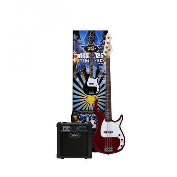 Custom Peavey MAX Bass Pack - Milestone bass guitar, 126 bass amp, cable, bag, tuner,strings 03569140 #1 image