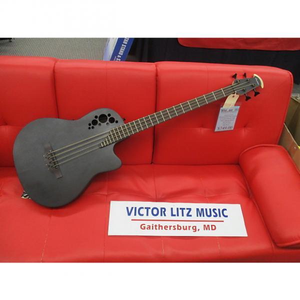 Custom Ovation b778txb black bass acoustic electric #1 image