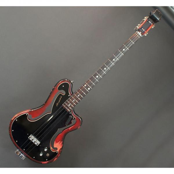 Custom Ampeg Scroll Bass AEB-1 1967 Black / Red #1 image