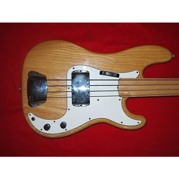 Custom Fender Fretless Precision 1974 Natural #1 image