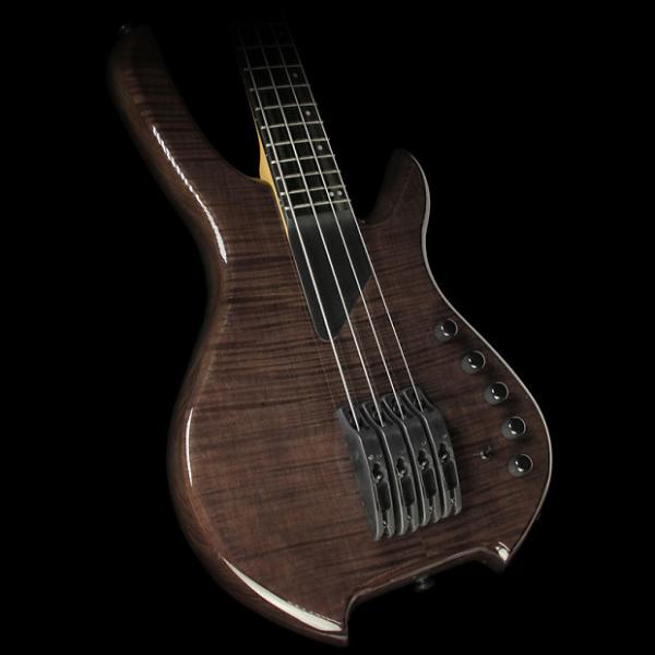 Custom Willcox Saber VL 4-String Fretted Electric Bass Trans Black #1 image