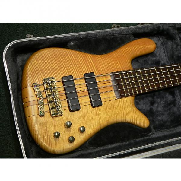 Custom Warwick Streamer Stage 1 AAA Flame Maple body and neck 1999 Natural #1 image