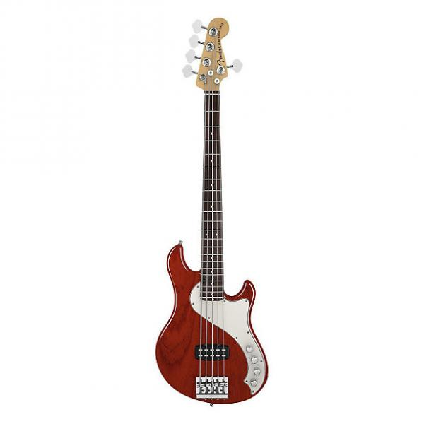 Custom Fender American Deluxe Dimension Bass V Guitar 5 String In A Great Cayenne Burst Finish - Price Drop #1 image