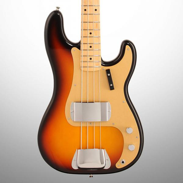 Custom Fender American Vintage '58 Precision Electric Bass, with Maple Fingerboard and Case, Faded 3-Color Sunburst #1 image