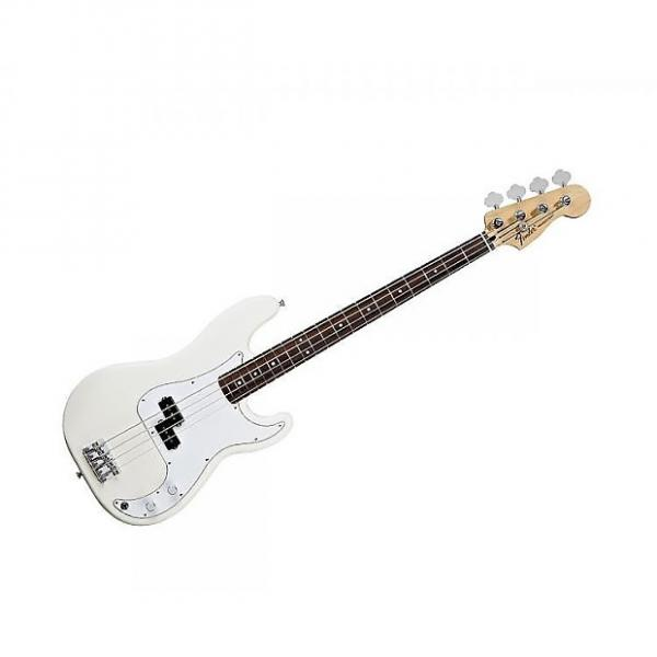 Custom Fender Standard Precision Bass Rosewood - Artic White #1 image