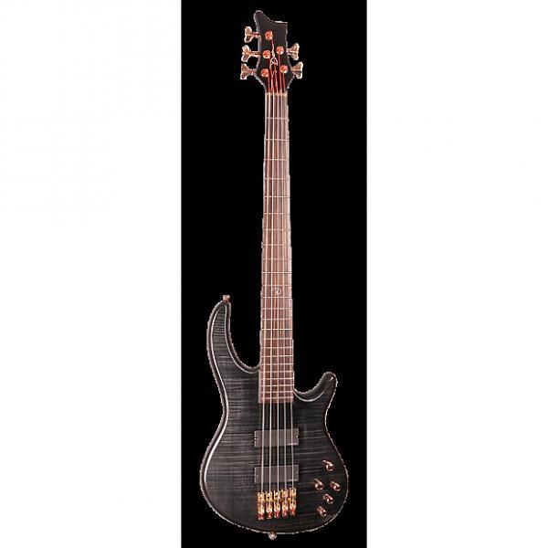 Custom Dean EP5 TBK Edge Pro 5 Bass Guitar, Trans Black #1 image