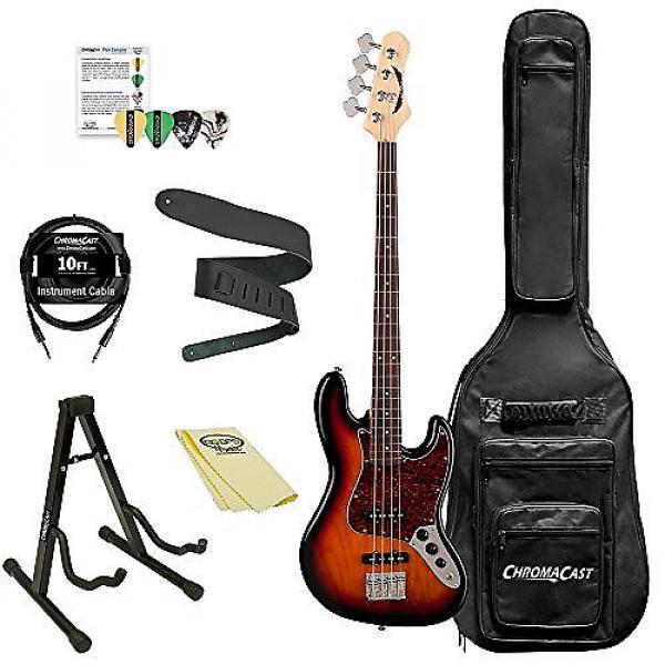 Custom Dean Guitars JUGGERNAUT R TSB Juggernaut Rosewood FB Bass Guitar Kit with ChromaCast Accessories, 3 Tone Sunburst #1 image
