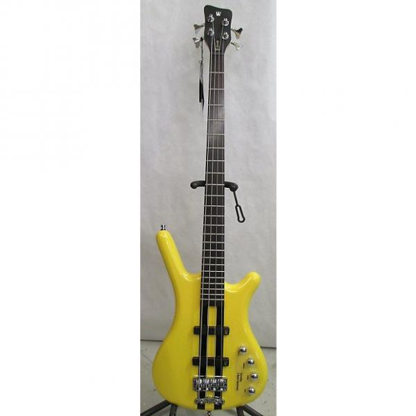 Custom Warwick RockBass Corvette Basic 4 Bass  Racing Yellow  w/ free hard case #1 image
