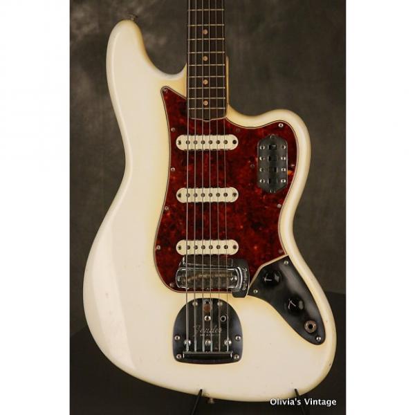 Custom Fender pre-CBS BASS VI custom color w/Clay Dots 1965 Olympic White #1 image