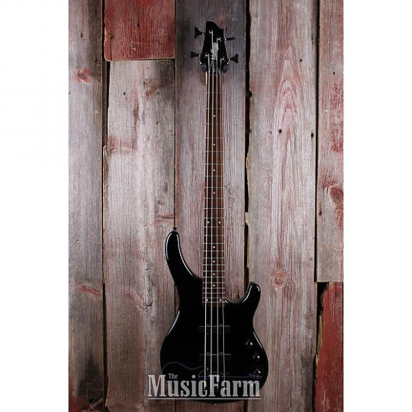 Custom Washburn SHB30 Stu Hamm Signature The Hammer 4 String Electric Bass Guitar Black #1 image