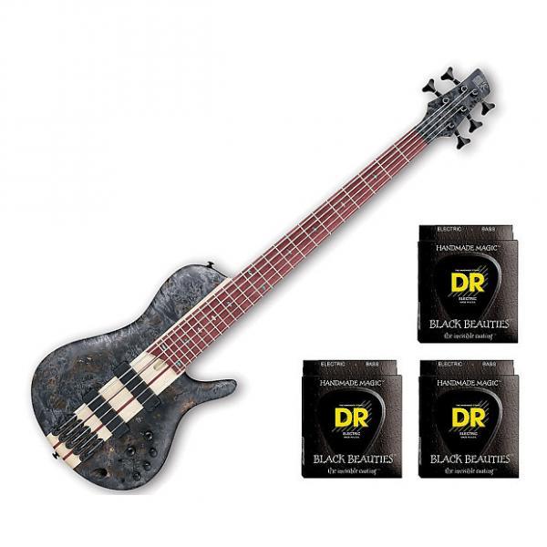 Custom Ibanez SRSC805 Deep Twilight Flat Bass Workshop w/3 Sets DR Strings BKB545 #1 image