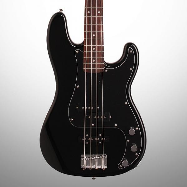 Custom Squier Affinity PJ Precision Electric Bass, Rosewood Fingerboard, Black #1 image