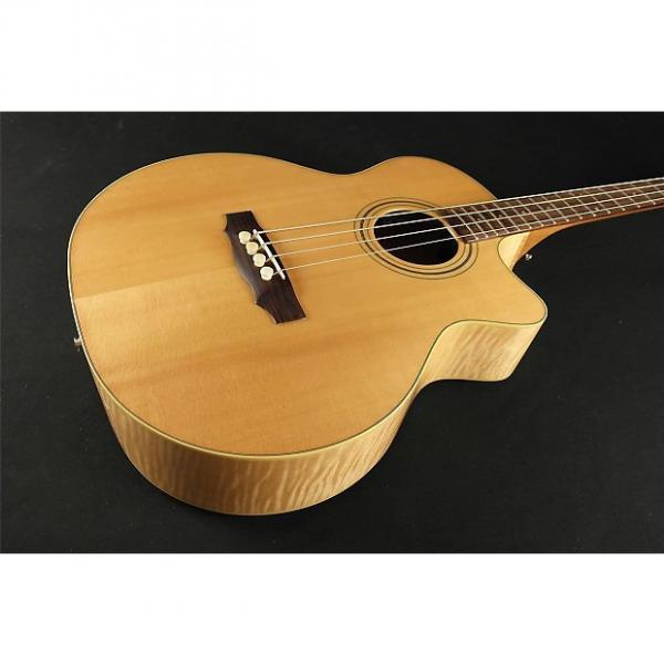 Custom Guild Standard Series Acoustic Bass B-54CE Standard, Sitka Spruce/Maple Jumbo Cutaway Electric Bass, Fishman Matrix Infinity, Blonde, with Deluxe Case #1 image