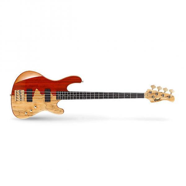 Custom Cort Jeff Berlin Series 4-String Rithimic Bass Guitar Cutaway Natural Rosewood #1 image