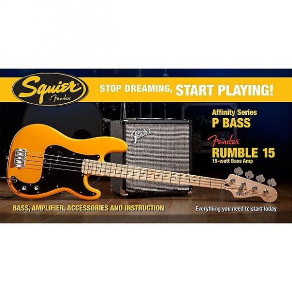 Custom Fender Affinity Series Bass Pack, Precision Bass, Fender Rumble 15w Amp, and more - Butterscotch Blonde #1 image