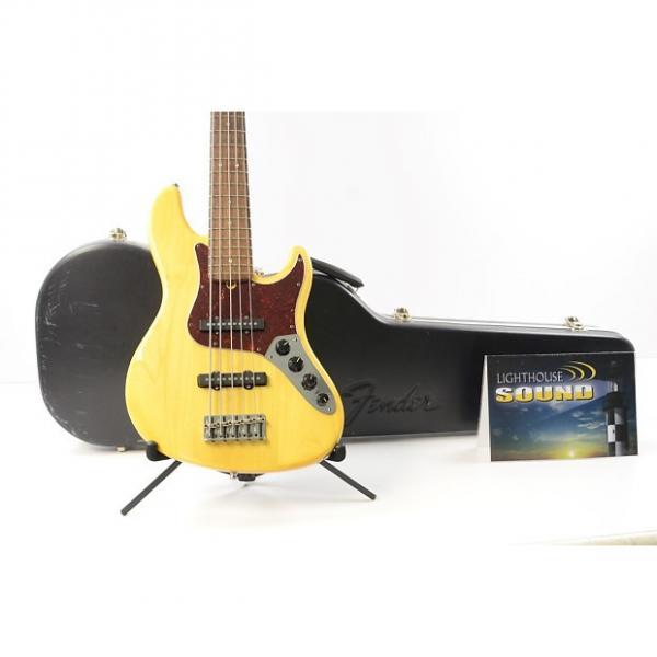 Custom 2006 Fender American Deluxe Jazz Bass V 5-String - Amber w/OHSC - 60th Ann. #1 image
